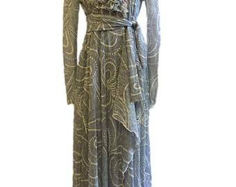 Romantic lace wrapper dress