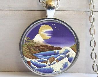Mountain Necklace, Nature Jewelry, Art Pendant