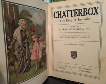 Vintage Children's Book - Chatterbox 1923