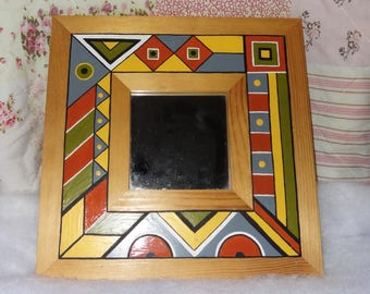 small mirror decorative geometric pattern