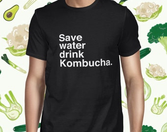 Funny Kombucha Drink T-shirt for Men - Men's Pun T Shirt - Statement Vegan Shirt - Vegetarian Tee for Men - Kombucha T-shirt - Plant-based