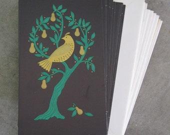 vintage SET of TWELVE unused HOLIDAY CARDS