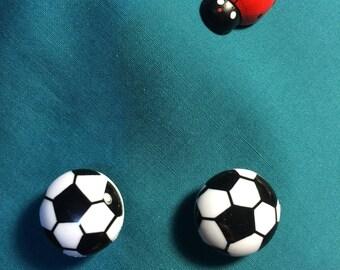 Cute SOCCER Balls Sports Clog Shoe Charms
