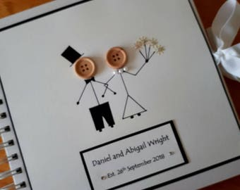 Wedding photo album-scrapbook-wedding guest book-personalised-memory-bride and groom gift-marriage-gay couple-civil ceremony