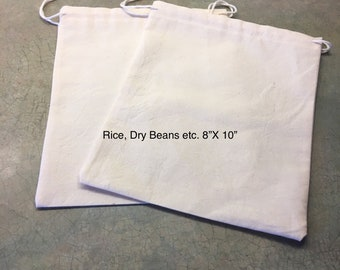 100% cotton reusable bags
