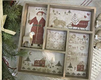 WITH THY NEEDLE O Tannenbaum counted cross stitch patterns at thecottageneedle.com Christmas