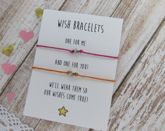 Bracelet Set for friends. Friendship Bracelets set. Friendship gift. Make a wish bracelet. String Bracelet. Star charm bracelet Friends gift