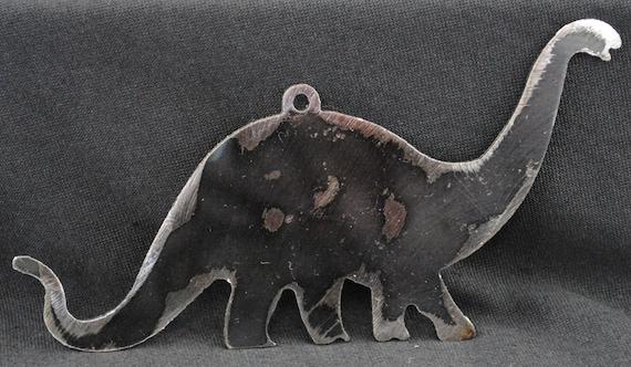 Brontosaurus, Metal Dinosaur Wall Art Hanging, Dinosaur Magnet, Metal Magnet, Refrigerator Magnet, Kids Magnet, Kids Wall Hanging, Kids Room
