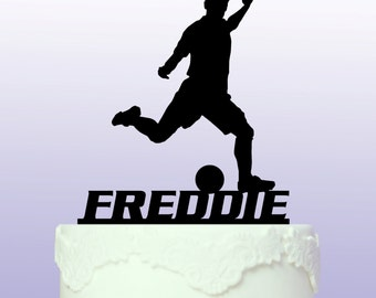 Personalised Footballer/Soccer Cake Topper