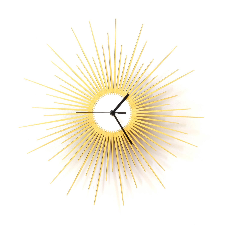 The Big Bang L / XL stylish wooden wall clock with