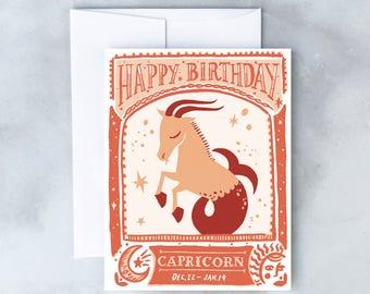 Capricorn Birthday Card