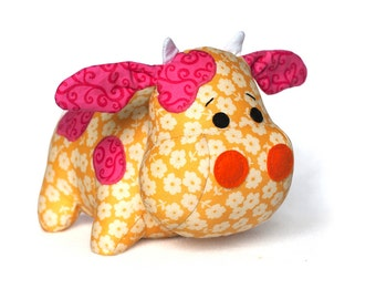 Cow sewing pattern sew a plush toy - PDF INSTANT DOWNLOAD