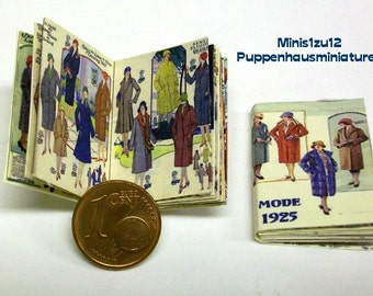 1336# Fashion journal 1925 - Doll house miniature in scale 1/12