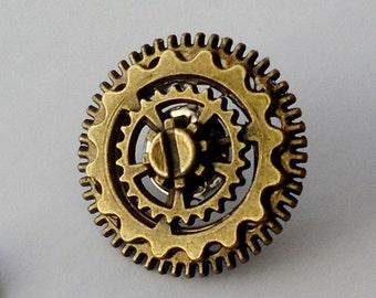 Steampunk Tie Pin, Steampunk Tie Clip. Steampunk Lapel Pin.