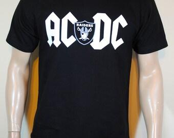 Raiders Mens T shirt Amari Cooper Derek Carr Tee AC DC