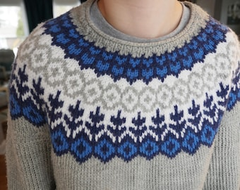 Hand-knit sweater knit to order!