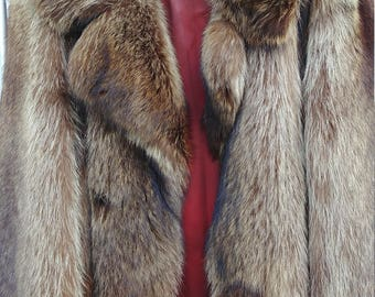 Raccoon Fur Coat Full Pelts XXL Perfect Rare High Quality