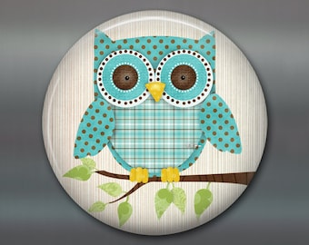 "3.5"" cute owl fridge magnet, owl decor, kitchen decor, large fridge magnet, refrigerator magnet, stocking stuffer for kids giftsMA-122"