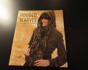 Hooded Scarves  Fast Crochet Design Pattern Book # 5