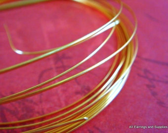 12 ft Gold Wire Half Round 18 Gauge Soft Tempered Non Tarnish Gold Colored - 12 ft - STR9064WR-HRG12