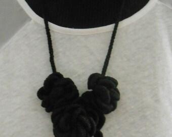 Crochet  flower rope necklace