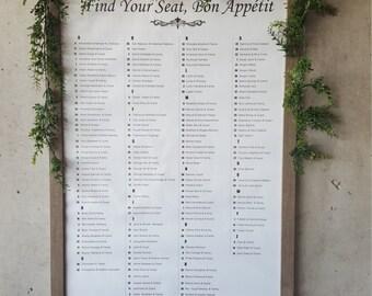 PRINTABLE 24x36 Wedding Seating Chart