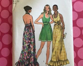Vintage 1978 simplicity 5683 misses back wrap and tie dress size 14