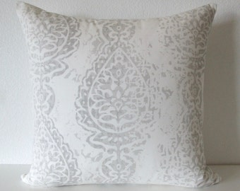 Damask French Grey Pillow Cover
