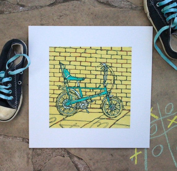 Bicycle Wall Art Retro Bike Print Vintage Bicycle Raleigh