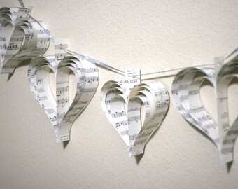 Banner Heart Garland Paper Heart Garland (Custom orders welcomed)