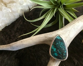 Freaky Little Turquoise Ring in Sterling Silver