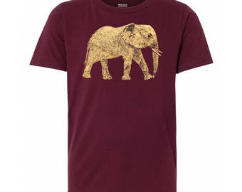 Youth Elephant T Shirt, 10% Donated to Animal Causes, Kid's Wildlife Tee, Animal Gift T-Shirt