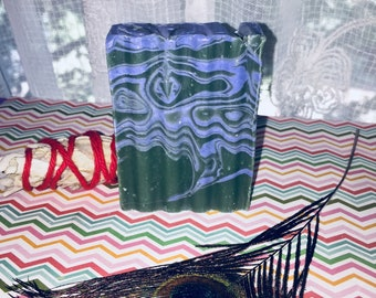 Lavender Mint soaps - Organic handcrafted cold process soap - Lavender Spearmint swirl soaps