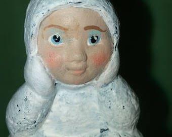 Sitting Snowbaby Ornament