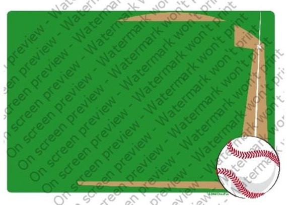 Baseball Birthday - Edible Cake and Cupcake Topper For Birthday's and Parties! - D4076