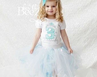 Frozen Birthday Shirt, Frozen Shirt, Ice Queen Birthday Shirt, Ice Princess Shirt, Ice Queen Shirt, Ice Princess Birthday Shirt, Embroidered