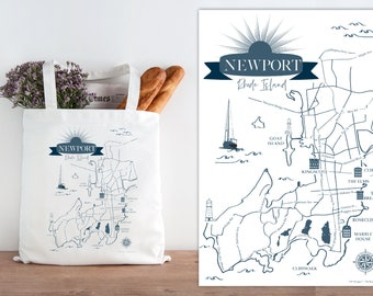 Newport, Rhode Island totes - sets of 10, 15, 20, 25, 50 or 100