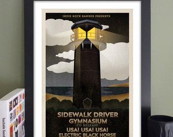 Sidewalk Driver Gig Poster // TT the Bear's Place, Cambridge, MA
