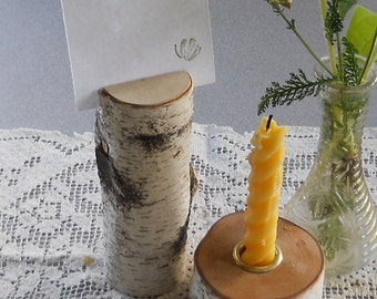 Woodsy Rustic Wedding Table Number Holder Birch Branch Country Outdoor Natural Wedding Eco Friendly