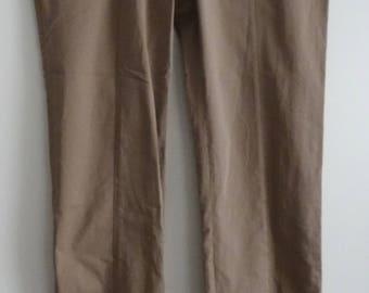 DIRK BIKKEMBERGS beige women's pants size 38 - us 6 - 10 uk