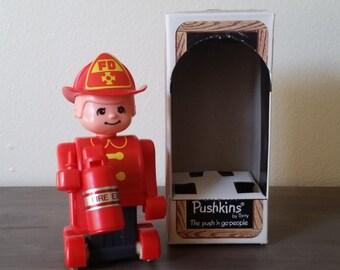 Pushkins Fireman Vintage Brand New 1977 by Tomy