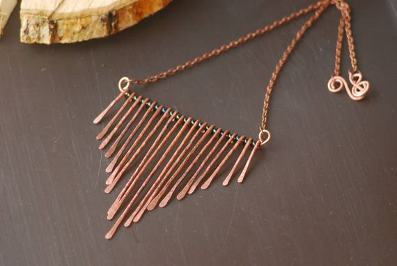 Copper pendant necklace copper wire work necklace hand forged te gusta este artculo aloadofball Images