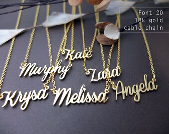 Custom Name Necklace-Personalized Name Necklace-Custom Name Gift-Your Name Necklace-Bridesmaids Jewelry-Children Names-Gift for mom. #NF20