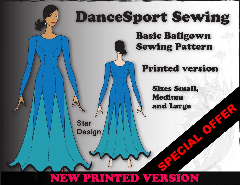 Basic Ballroom Gown Sewing Pattern PRINTED Version plus free