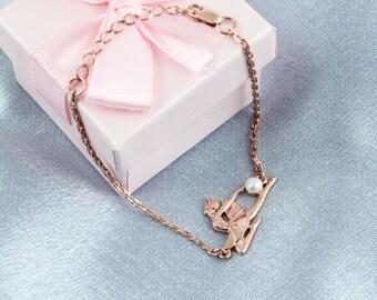 Swan Lake Bracelet-Odette Bracelet-Ballet Gift-Ballerina Gift-Art Bracelet-Dancer Bracelet-Odette-Dancer Gift