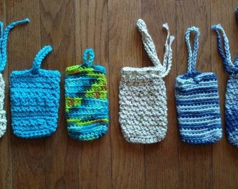 Soap Saver Soap Sack Cotton Handmade Crochet Eco Earth Friendly