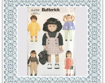 "Butterick 6498 (1999) 18"" Doll wardrobe - Vintage Uncut Sewing Pattern"