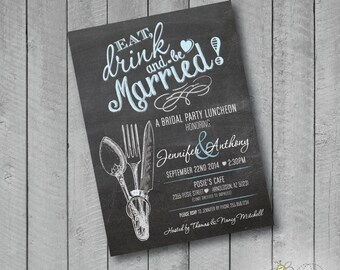 Customizable Eat Drink & Be Married Invitation