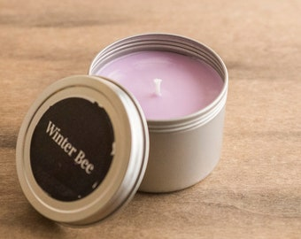 Lavender Soy Candle Tin, Soy Candles, Soy Wax Candle, Travel Candle, Camping Candle, Outdoor Candle, Soy Container Candle, Homemade Candles