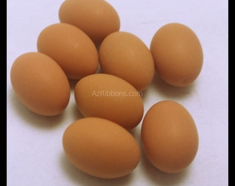 5 PC Brown Birds Baby Egg Polymer Clay Flatbacks Cabochons AZ359